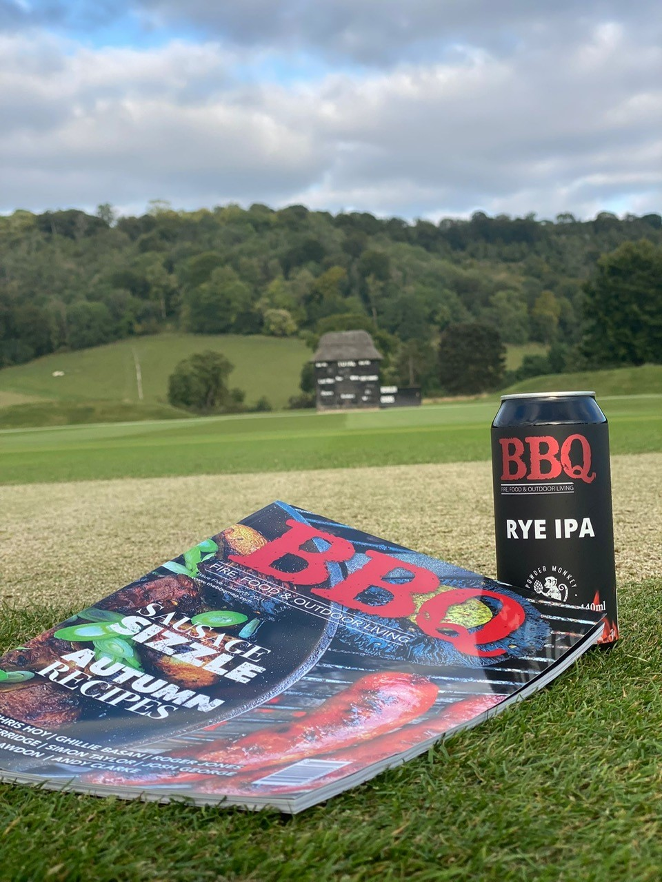 BBQ mag and beer